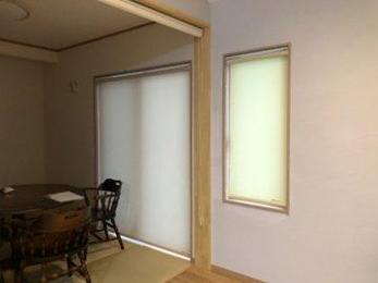 新築住宅のカーテン、ブラインド、ロールスクリーンのご注文も多いです。カラーコーディネートも提案できます。